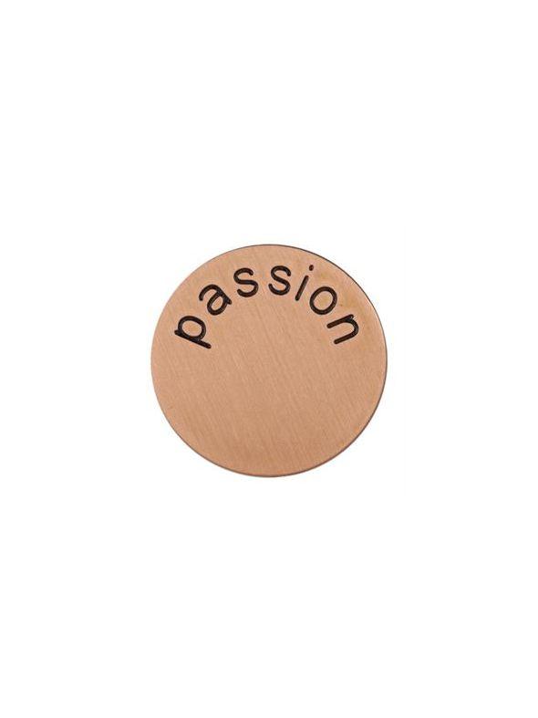'Passion' Medium Rose Gold Coin
