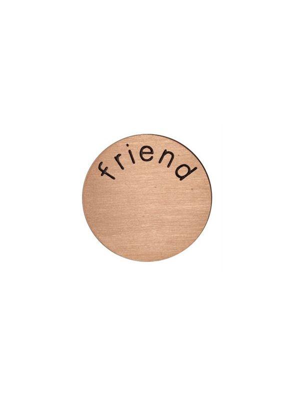 'Friend' Medium Rose Gold Coin