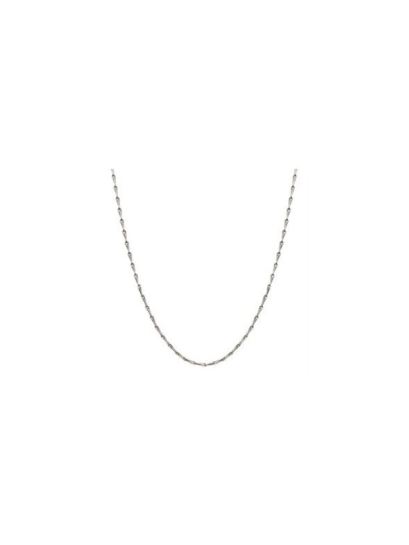 """Nickel-Safe Silver Elongated Cable Chain: 28"""""""