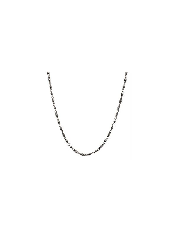 """Nickel-Safe Graphite Multifaceted Link Chain - 28"""""""