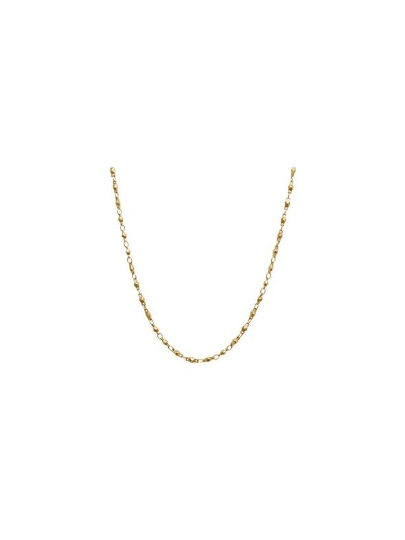 """Nickel-Safe Gold Multifaceted Link Chain - 28"""""""