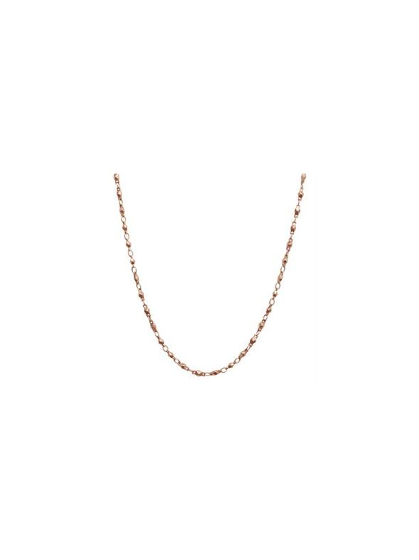 """Nickel-Safe Rose Gold Multifaceted Link Chain -28"""""""