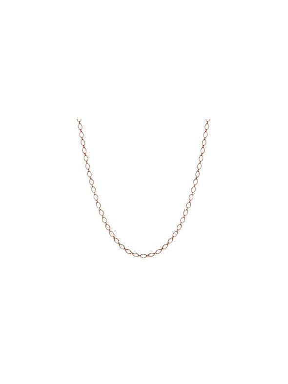 "Nickel-Safe Rose Gold Sofia Chain: 16-19"""
