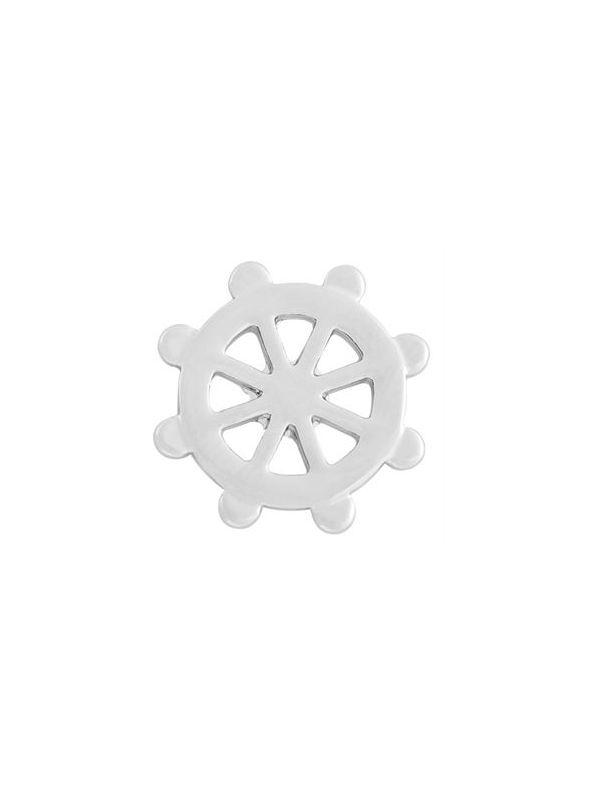 Medium Silver Nautical Wheel Screen