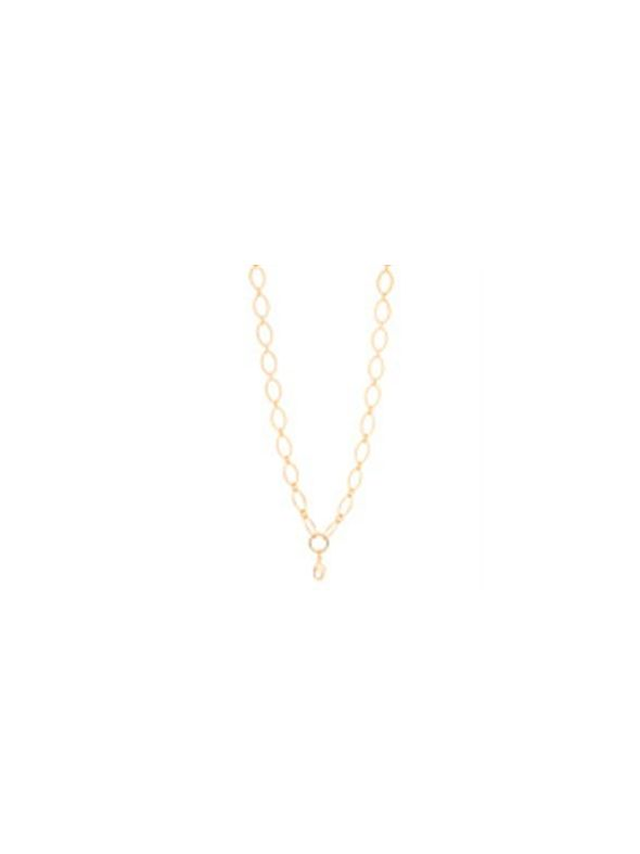 """Nickel-Safe Gold Textured Oval Link Chain - 32"""""""