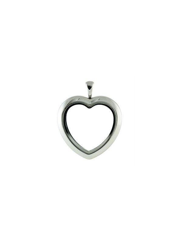 Silver Tone Heart Locket
