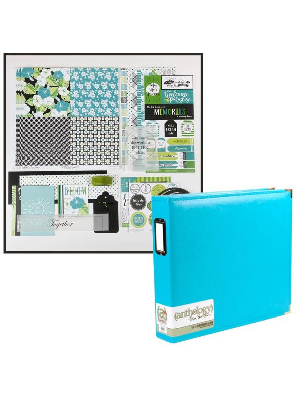 Tropical Bloom Layout Kit Album Bundle