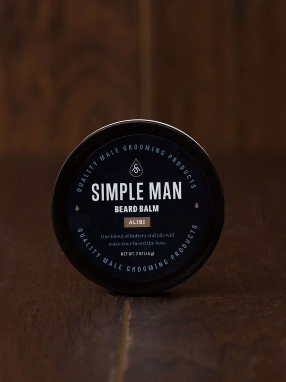 Simple Man Alibi Beard Balm 2 oz