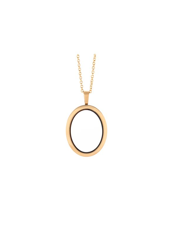 Matte Gold Oval Locket