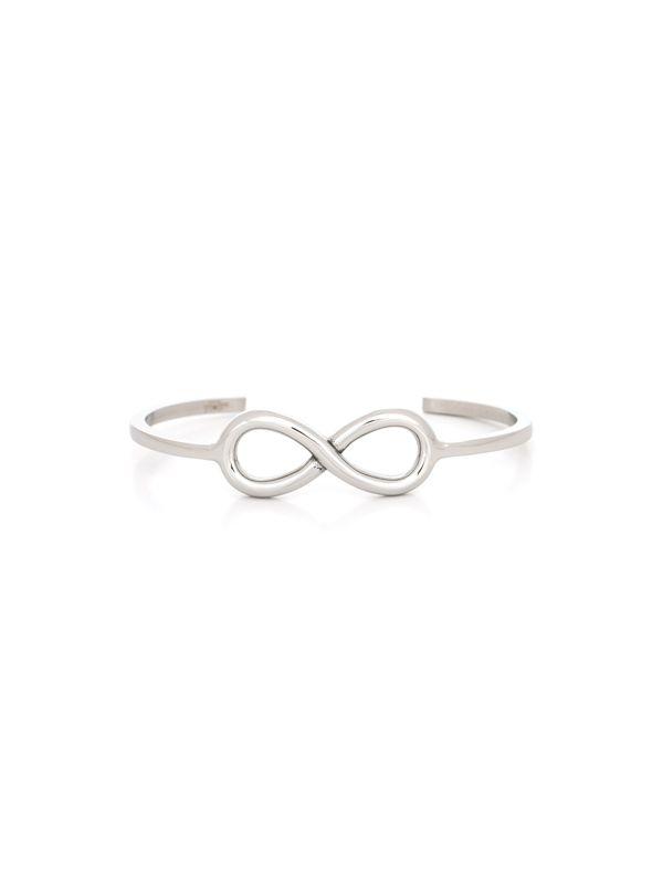 Stainless Steel Infinity Cuff Bracelet