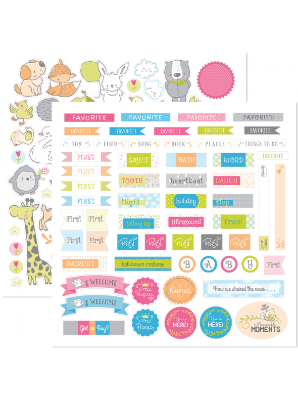 Beautiful Baby Stackable Stickers