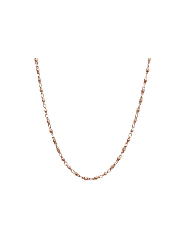 Rose Gold Multifaceted Link Chain - 28""