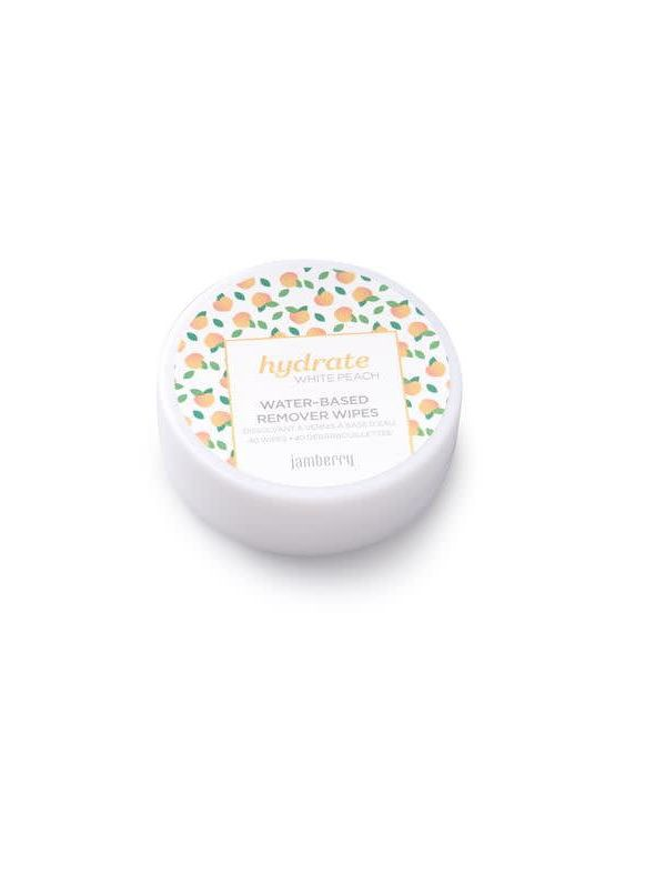 Hydrate Water Based Remover Wipes - White Peach