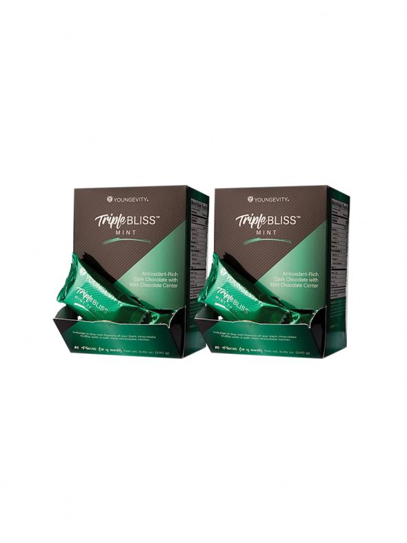 Plus One Promo - 2 Boxes Triple Bliss Mint Squares (20ct)