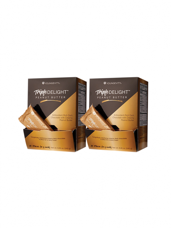 Plus One Promo - 2 Boxes Triple Delight Peanut Butter Truffles (20ct)