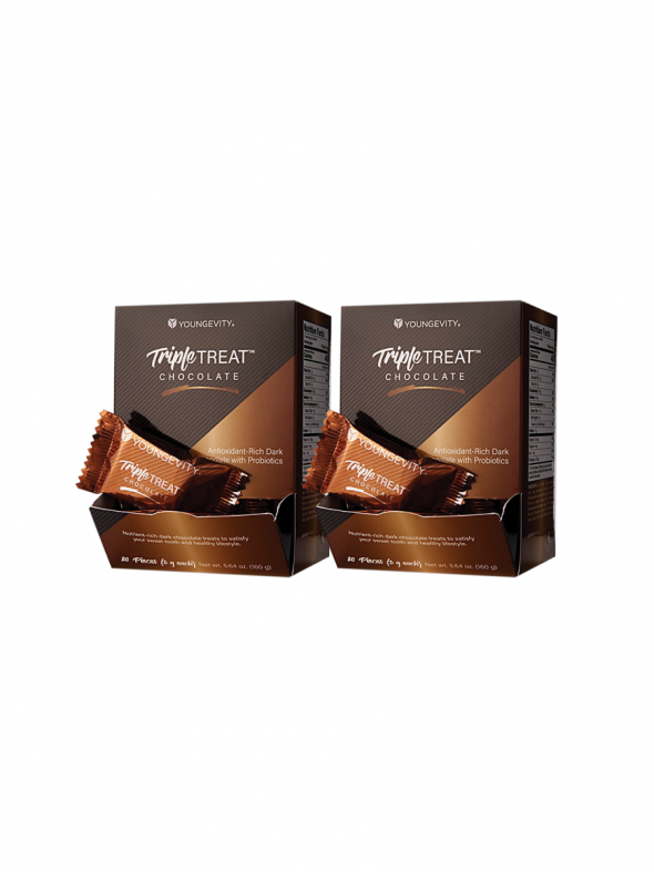 Plus One Promo - 2 Boxes Triple Treat Chocolate 20 Count