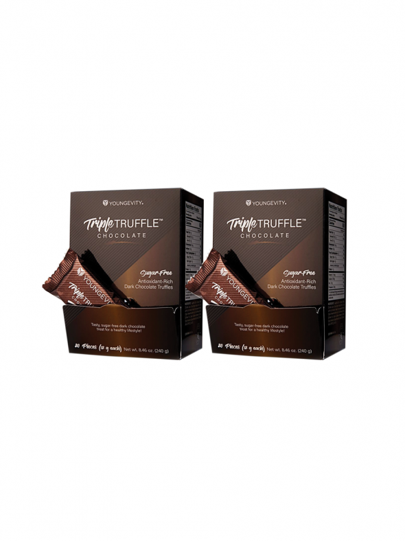 Plus One Promo - 2 Boxes Triple Truffle Chocolate 20 Count