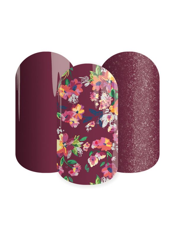 Sangria Blooms - Lacquer Strip