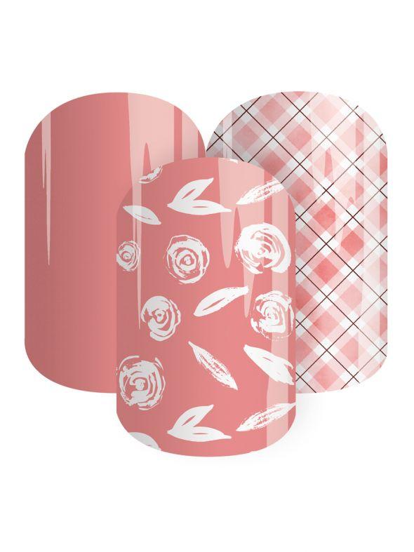 Plaid Posie  - Nail Wrap