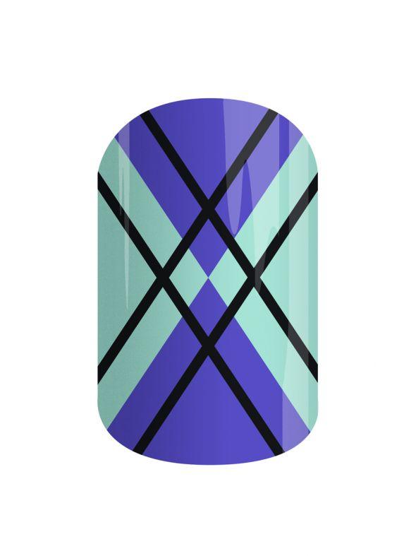 New England Argyle - Nail Wrap