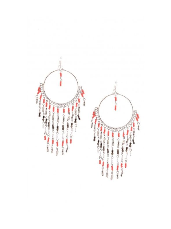Coral Native Earrings