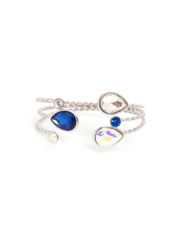 Silver 3 Tear Drop Bracelet