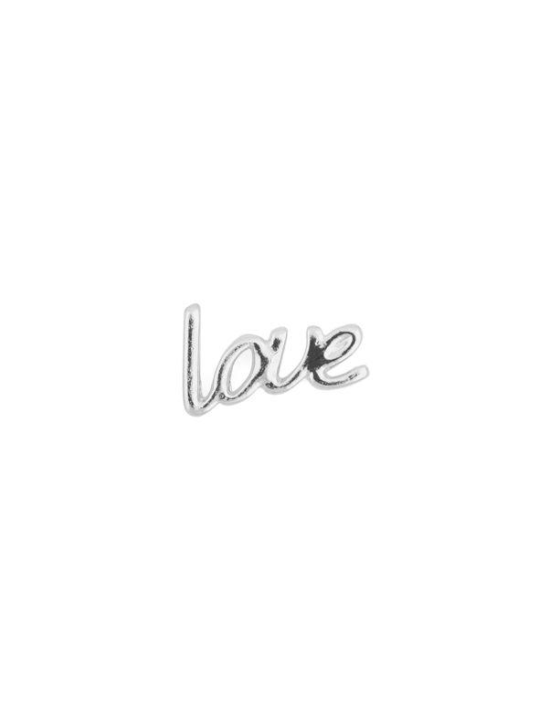 Silver Cursive Love Charm