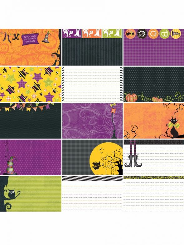 Halloween Boo to You Journal/Mounting Cards
