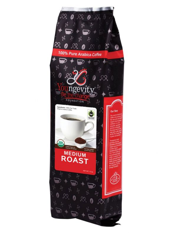Be The Change Coffee - Fair Trade Organic Original Medium Roast - Ground (12oz)