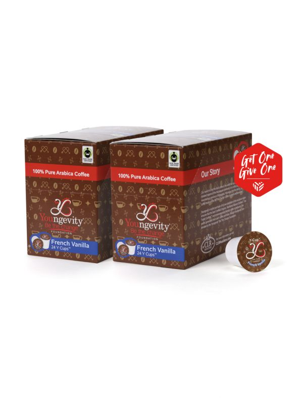 Be The Change Coffee - French Vanilla - Y-Cups 24ct [QTY: 2 | Get One, Give One FREE]