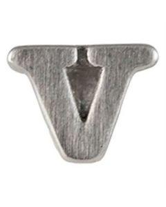 Silver 'V' Slider Charm
