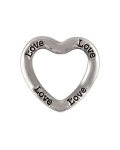 'Love' Large Silver Heart Frame