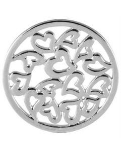 Large Silver Multi-Heart Screen