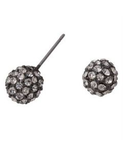 Graphite Crystal Pave Studs