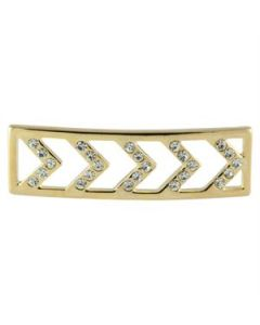 Locket Bracelet: Gold Chevron Screen