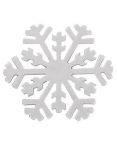 Large Silver Snowflake Screen