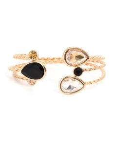 Gold 3 Tear Drop Bracelet