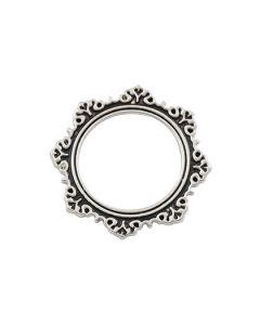 Antique Silver Circle Frame